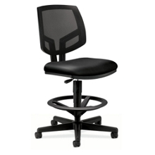 HON Volt Armless Mesh and Leather Stool, 56978