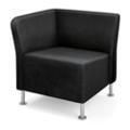 HON Flock Leather Corner Chair, 76063
