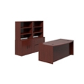 Bowfront Desk with Storage Wall, 14569