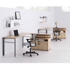 Two Person Desk Set with Chairs, 13829