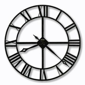 Wrought Iron Roman Numeral Wall Clock, 85844