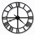Wrought Iron Roman Numeral Wall Clock, 85844