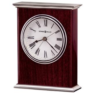 """Kentwood 5.5""""H Veneer Tabletop Clock, 82278"""