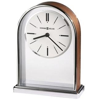 "Milan 7.25""H Chrome-Plated Desktop Clock, 82279"