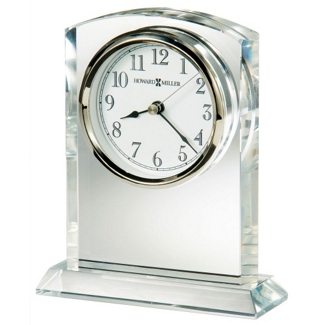 """Flaire 6.25""""H Beveled Side Tabletop Clock, 82280"""