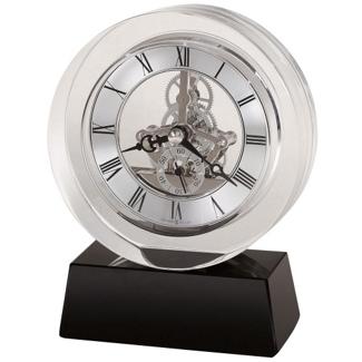 "Fusion 5.75""H Floating Dial Desktop Clock, 82284"