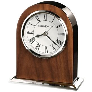"Palmero 6""H Chrome & Wood Desktop Clock, 82285"
