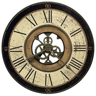 "Brass Works 32"" Wall Clock, 85899"