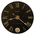 "32"" Dia Brushed Brass Pendulum Wall Clock, 91246"