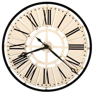 "31.5""Dia Metal Antique White Wall Clock, 91254"