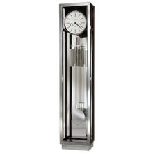 """Quinten 80""""H Interior Illuminated Chrome Frame Floor Clock, 91255"""