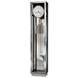"Quinten 80""H Interior Illuminated Chrome Frame Floor Clock, 91255"