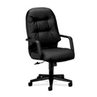 HON Pillow Soft Leather High Back Executive Chair, 50477