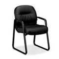 HON Pillow Soft Tufted Leather Guest Chair, 50622