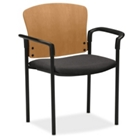 HON Pagoda Wood Back Stack Chair with Arms, 51364