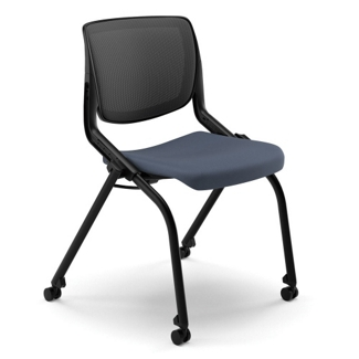 HON Motivate Armless Mesh Back Nesting Chair, 51476
