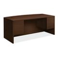 "Executive Bowfront Desk with Pedestals - 72""W, 14549"