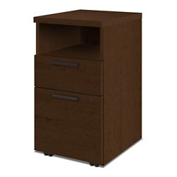 Mobile Two Drawer Pedestal with Open Storage, 34085