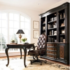 Traditional Writing Desk and Bookcase Small Office Set, 86013