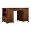 """Double Bookcase Pedestal Partner Desk - 62""""W x 36""""D x 37""""H, 13546"""