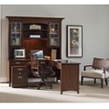 "Contemporary Reversible L Desk with Hutch and Mobile File - 66""W x 76""D, 13685"