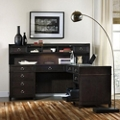 "Transitional L-Desk with Hutch - 73""W, 13938"