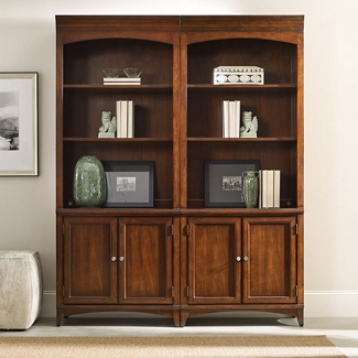 """80.5""""H 3 Shelf Contemporary Bookcase with Doors, 32006"""