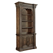 """90""""H Rustic Three Shelf Bookcase with Doored Storage, 32008"""