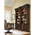 "European Double Bookcase with Sliding Ladder - 104""H, 32958"