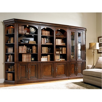 """Traditional European Library Wall Set - 88""""H, 32960"""