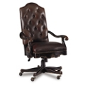 Button Tufted Faux Leather Computer Chair , 55001