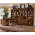 Traditional Peninsula Desk and Storage Wall Set, 86152