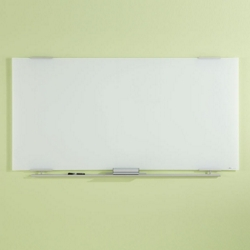 "72""W x 36""H Tempered Glass Dry Erase Markerboard, 80474"