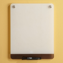 """12""""W x 16""""H Tempered Glass Dry Erase Markerboard, 80476"""