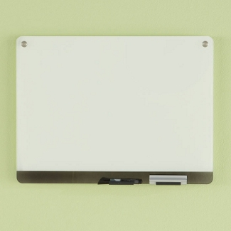 """24""""W x 18""""H Tempered Glass Dry Erase Markerboard, 80477"""