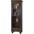 "Two-Tone Right Facing Half Bookcase - 75.5""H, 32114"