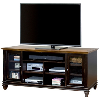 """Two-Tone TV Console with Glass Doors - 75""""W, 43422"""