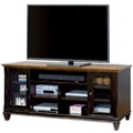 "Two-Tone TV Console with Glass Doors - 75""W, 43422"