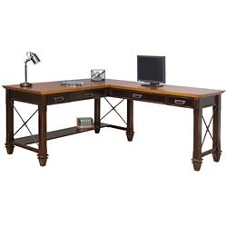 """Two-Tone Right L-Desk - 60""""W, 14062"""