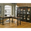 L-Desk and Bookcase Wall Set, 14238