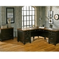 L-Desk with Right Return and Lateral File Set, 14239