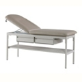 "Exam Table with Two Drawers and One Shelf - 76""W, 25883"