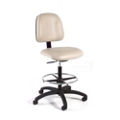 Vinyl Lab Stool with Adjustable Backrest Depth, 25938
