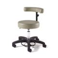 Physician Exam Stool with Crescent Back and Black Composite Base , 26165