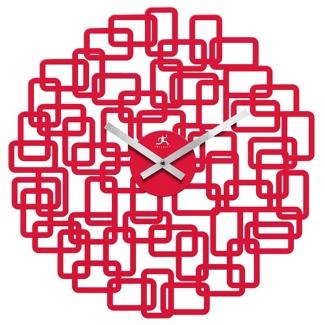 "Helix 19"" Modern Decorative Wall Clock, 91270"