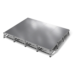 "All Terrain Aluminum Stage Set - 12'W x 16""D, 86408"