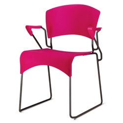 Sled Base Plastic Stack Chair with Arms, 50869