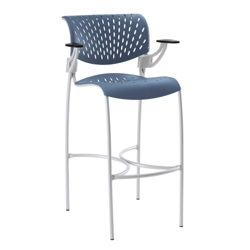 Modern Plastic Stool with Arms, 50882