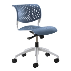 Modern Armless Plastic Task Chair, 50883