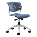 Modern Armless Plastic Task Chair, 50883